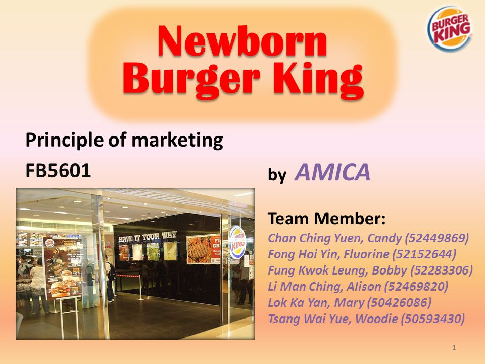 Principle of marketing FB5601
