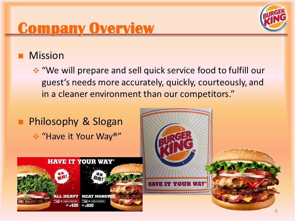 Company Overview Mission Philosophy & Slogan