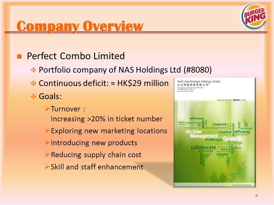 Company Overview Perfect Combo Limited