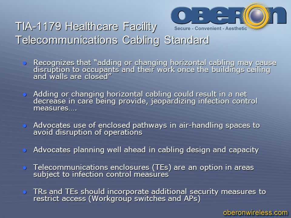 TIA-1179 Healthcare Facility Telecommunications Cabling Standard