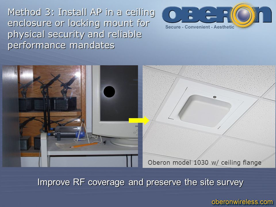 Method 3: Install AP in a ceiling