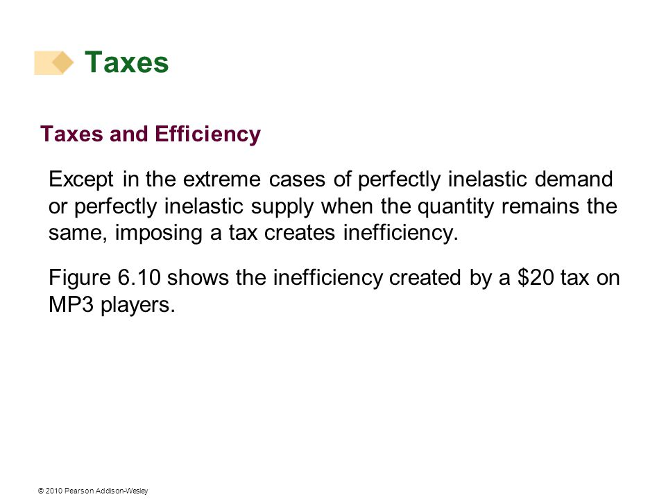 Taxes Taxes and Efficiency