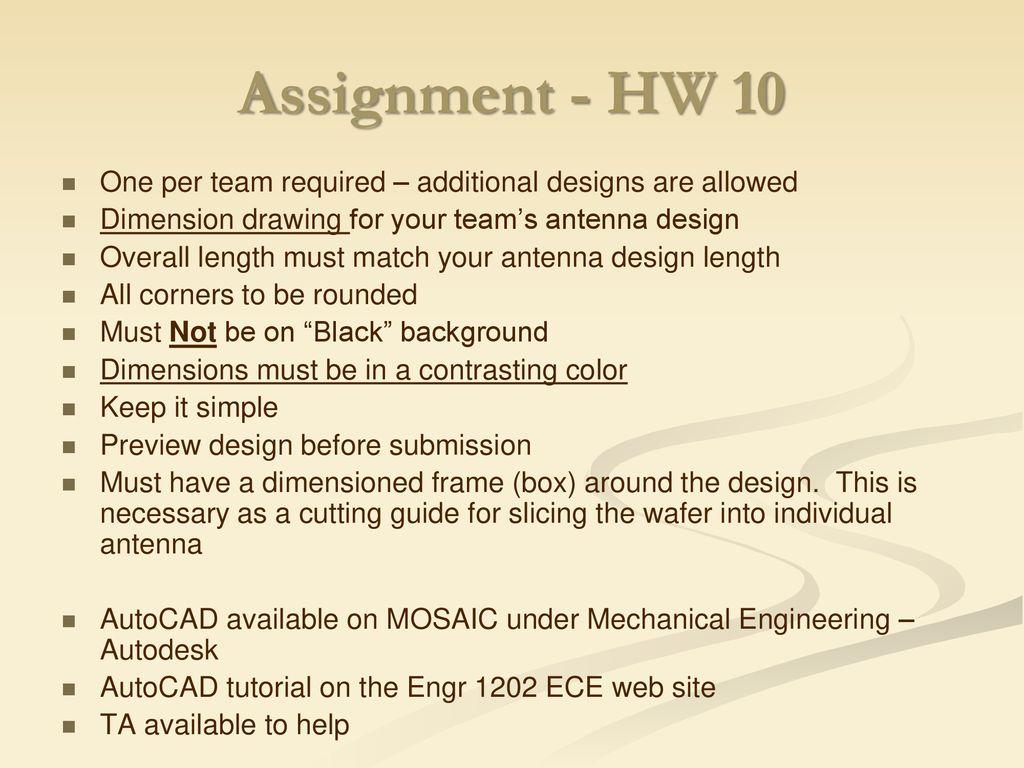 Antenna Design - Review In antenna design, an important design