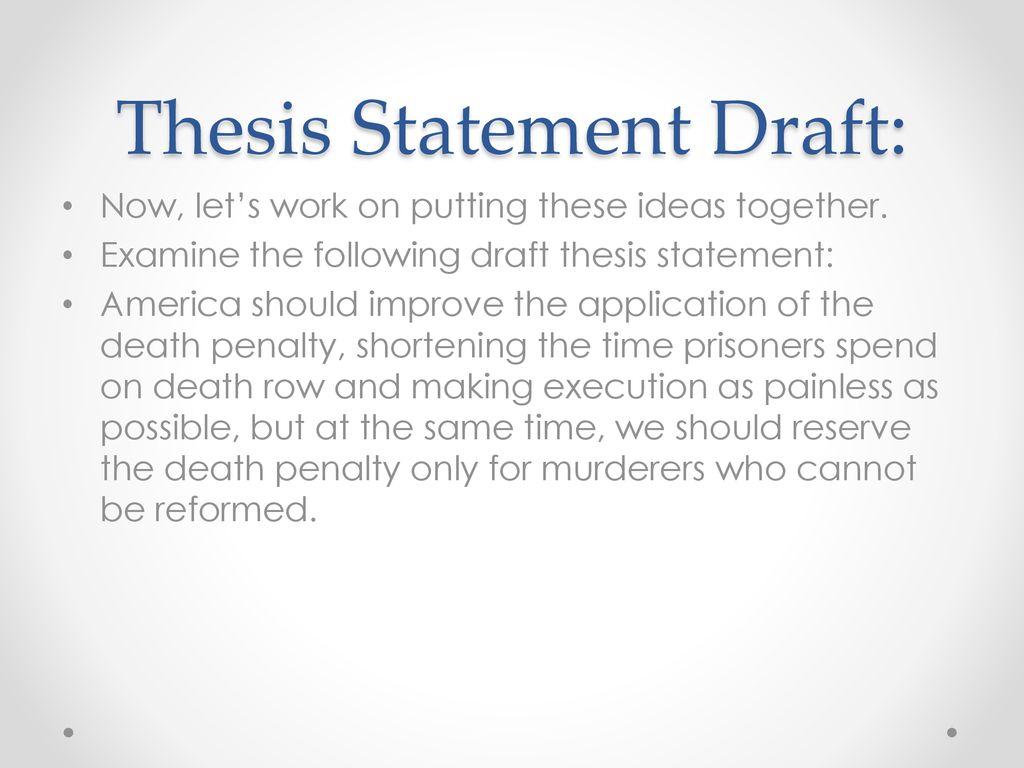 Thesis statement regarding capital punishment constructing cultures essays on literary translation