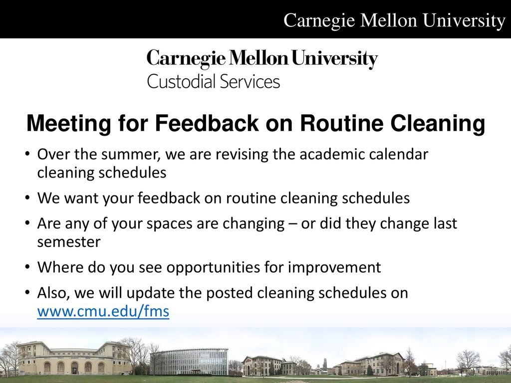 Cmu Academic Calendar.Quarterly Facility Coordinator Meeting May 2 Ppt Download