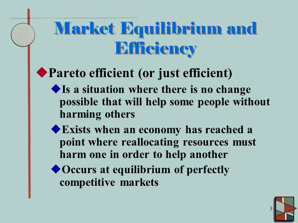 Market Equilibrium and Efficiency