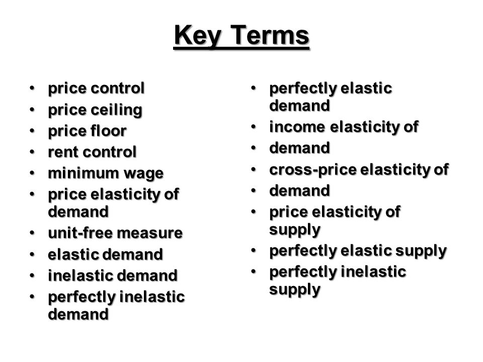 Supply And Demand Model Price Floors Price Ceilings And