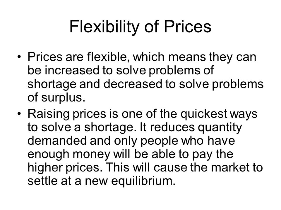 Flexibility of Prices