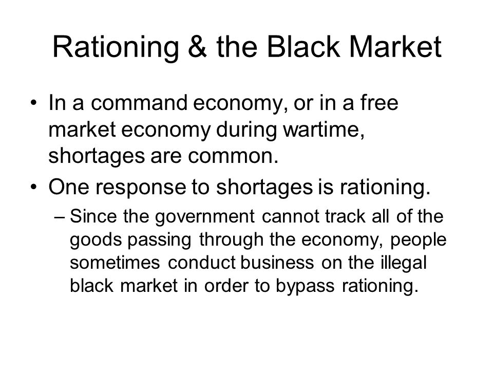 Rationing & the Black Market