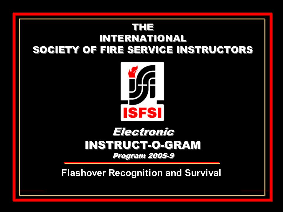 Flashover Recognition and Survival