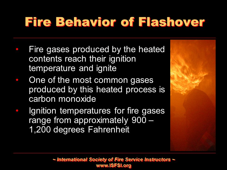 Fire Behavior of Flashover