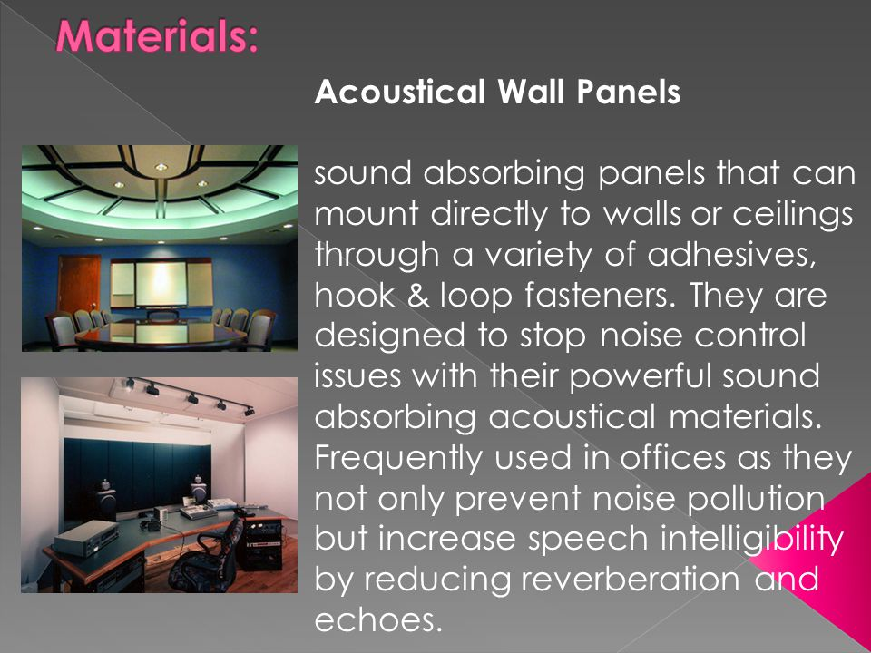 Materials: Acoustical Wall Panels