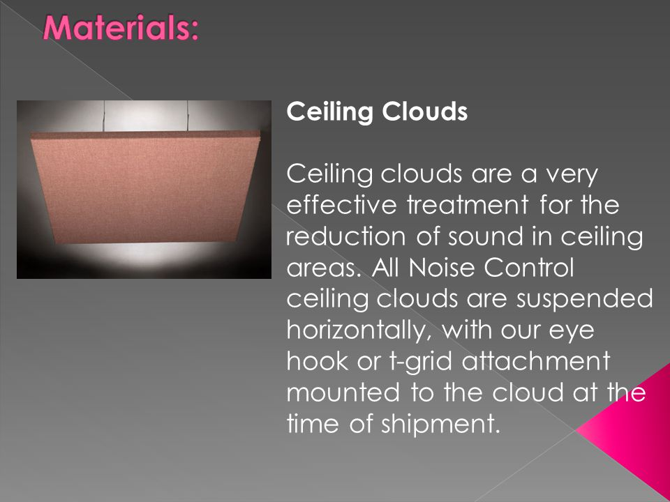 Materials: Ceiling Clouds