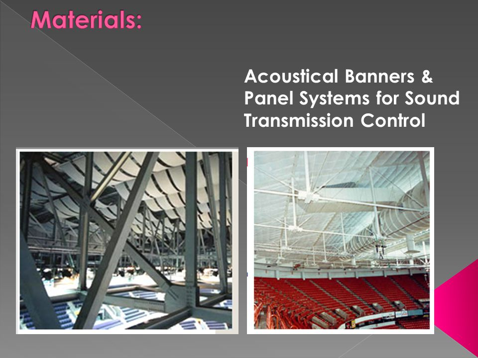 Materials: Acoustical Banners & Panel Systems for Sound Transmission Control