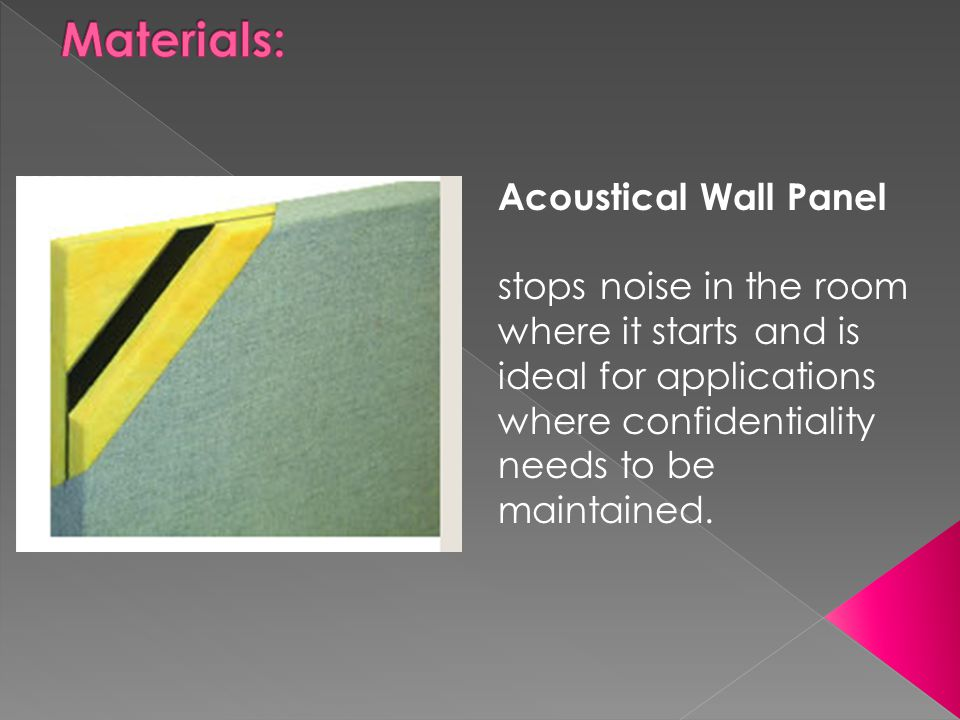 Materials: Acoustical Wall Panel