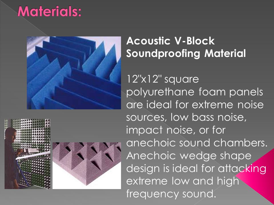 Materials: Acoustic V-Block Soundproofing Material