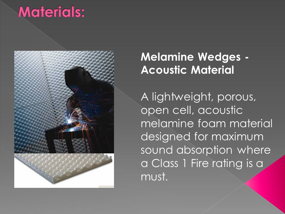 Materials: Melamine Wedges - Acoustic Material