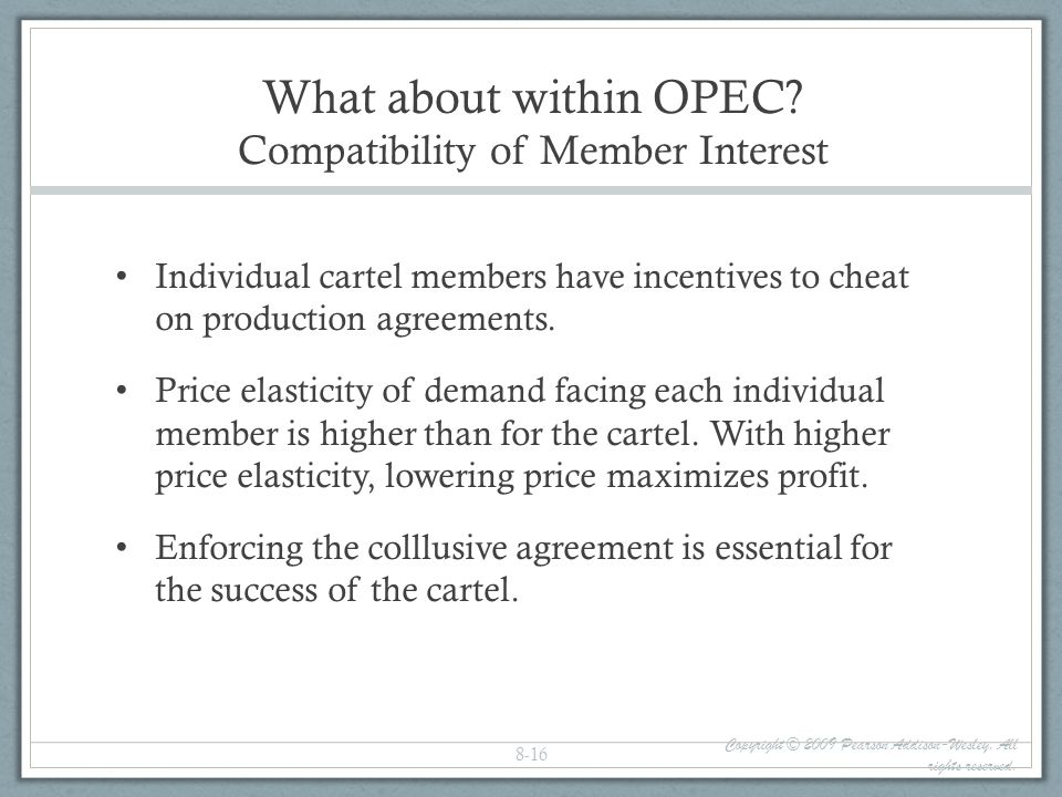 What about within OPEC Compatibility of Member Interest