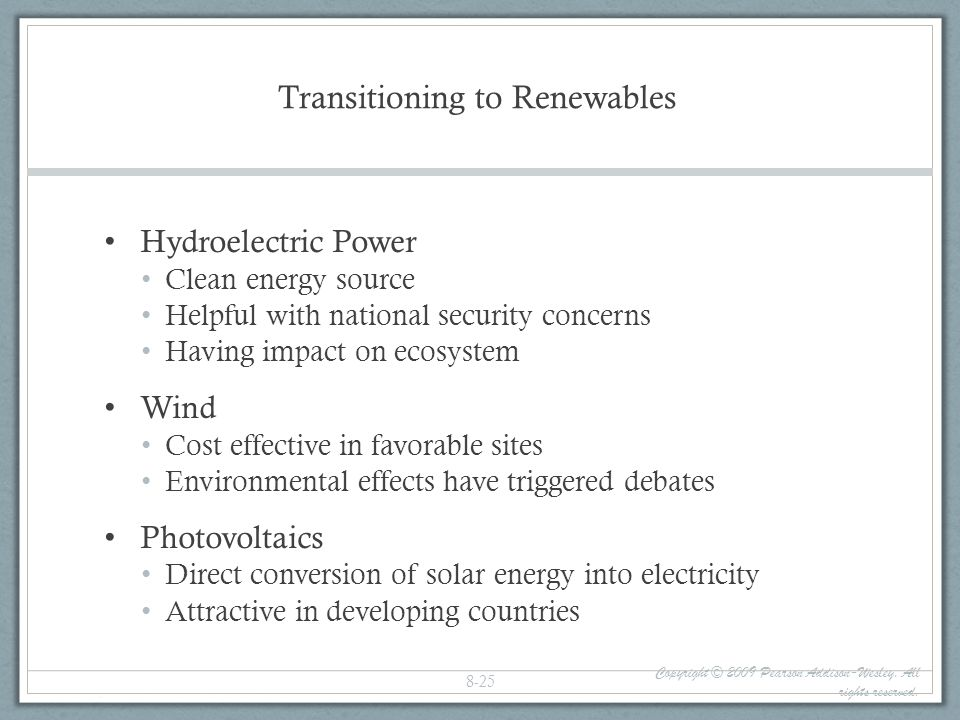 Transitioning to Renewables