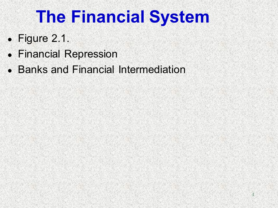 The Financial System Figure 2.1. Financial Repression