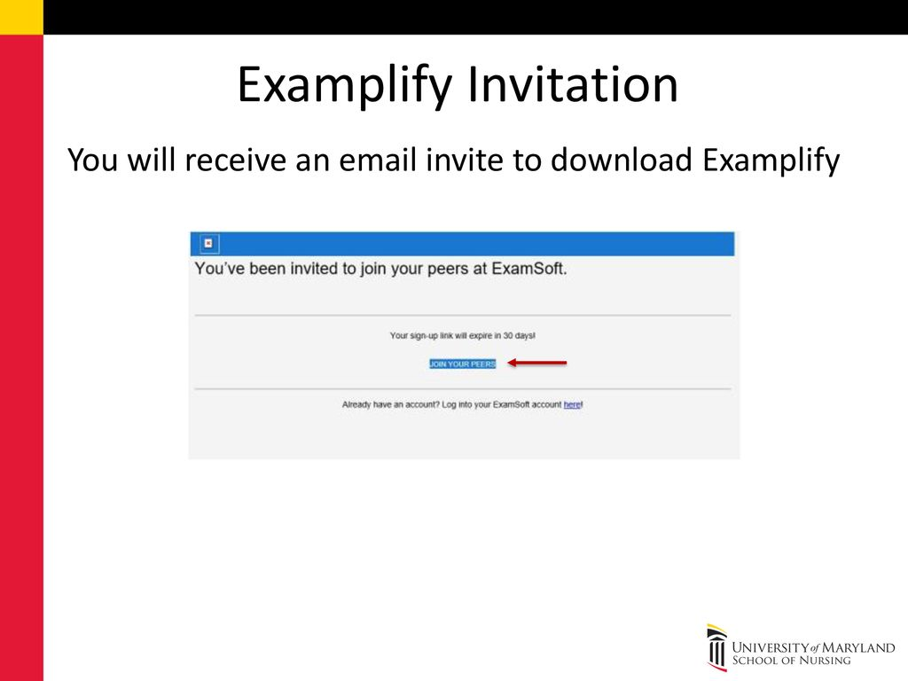 Examplify The following slides are the ExamSoft's