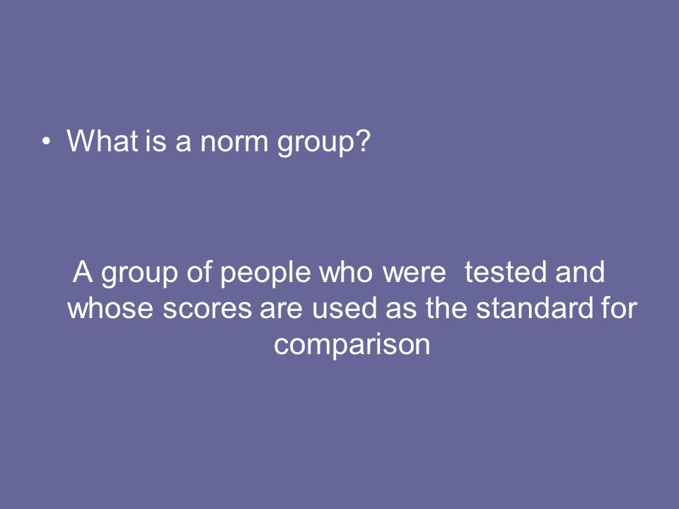 What is a norm group.