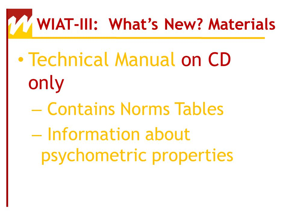 introduction to the wiat iii ppt video online download rh slideplayer com wiat iii scoring manual wiat iii examiner's manual pdf