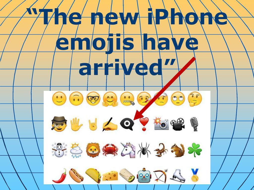 """The new iPhone emojis have arrived"""" - ppt download"""