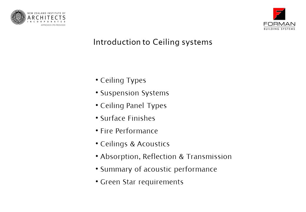 Introduction to Ceiling systems