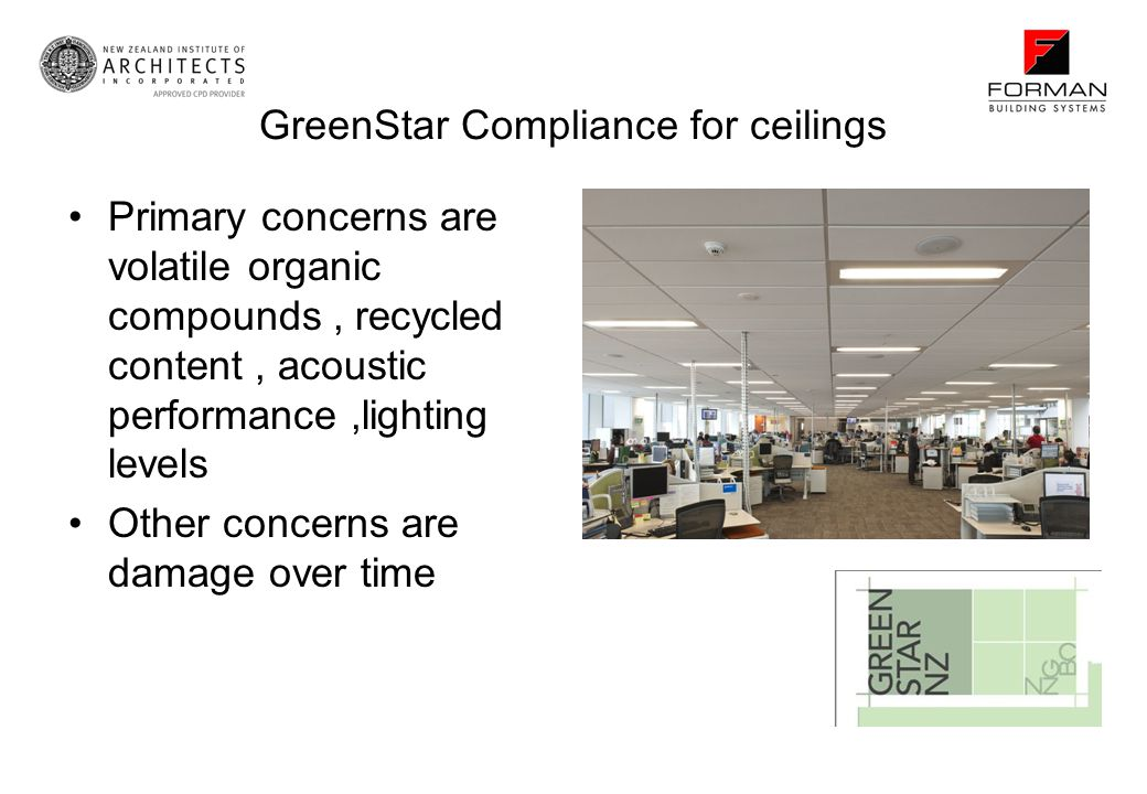GreenStar Compliance for ceilings