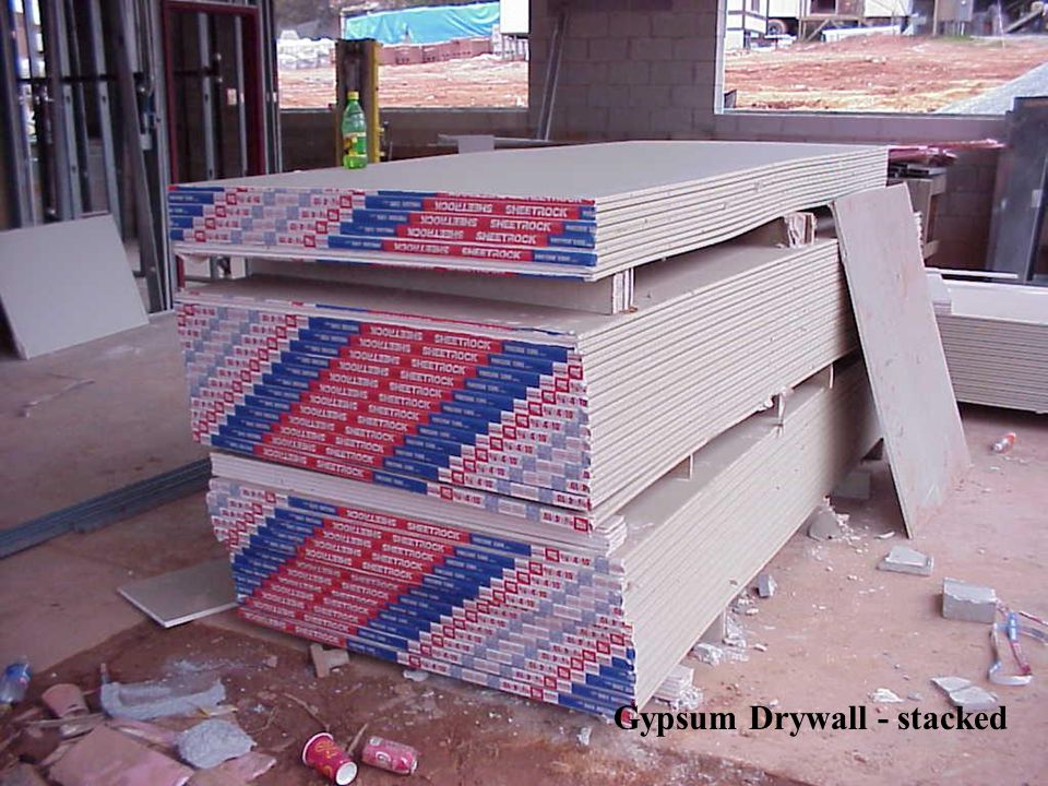 Gypsum Drywall - stacked