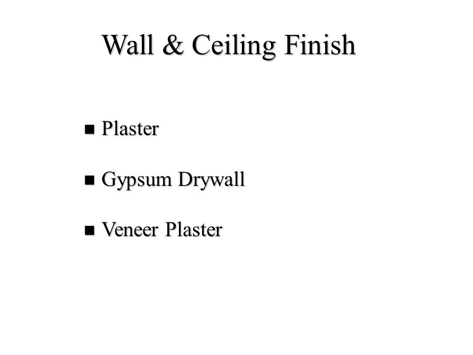 Wall & Ceiling Finish Plaster Gypsum Drywall Veneer Plaster