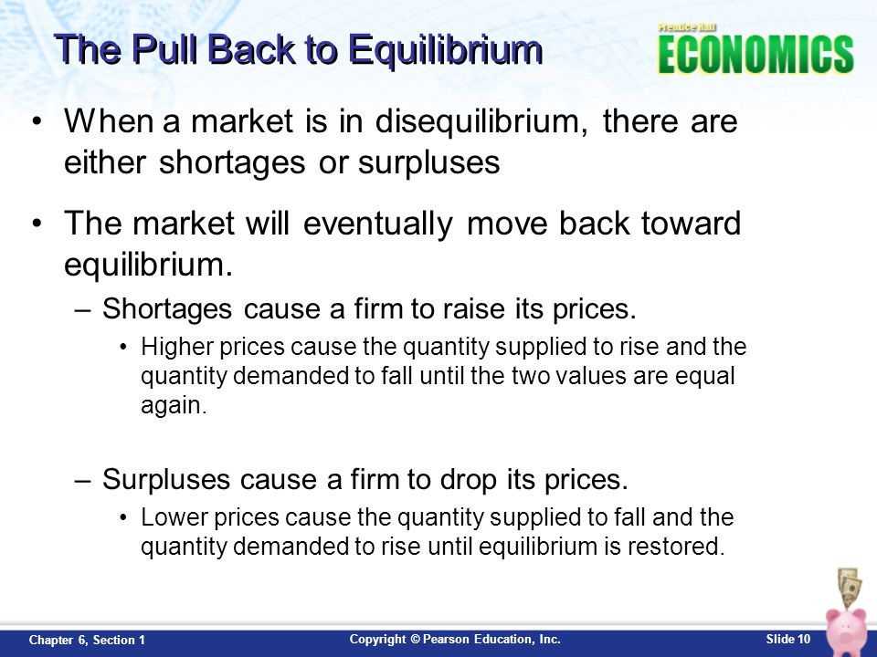 The Pull Back to Equilibrium