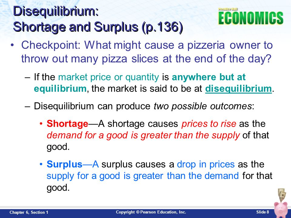 Disequilibrium: Shortage and Surplus (p.136)