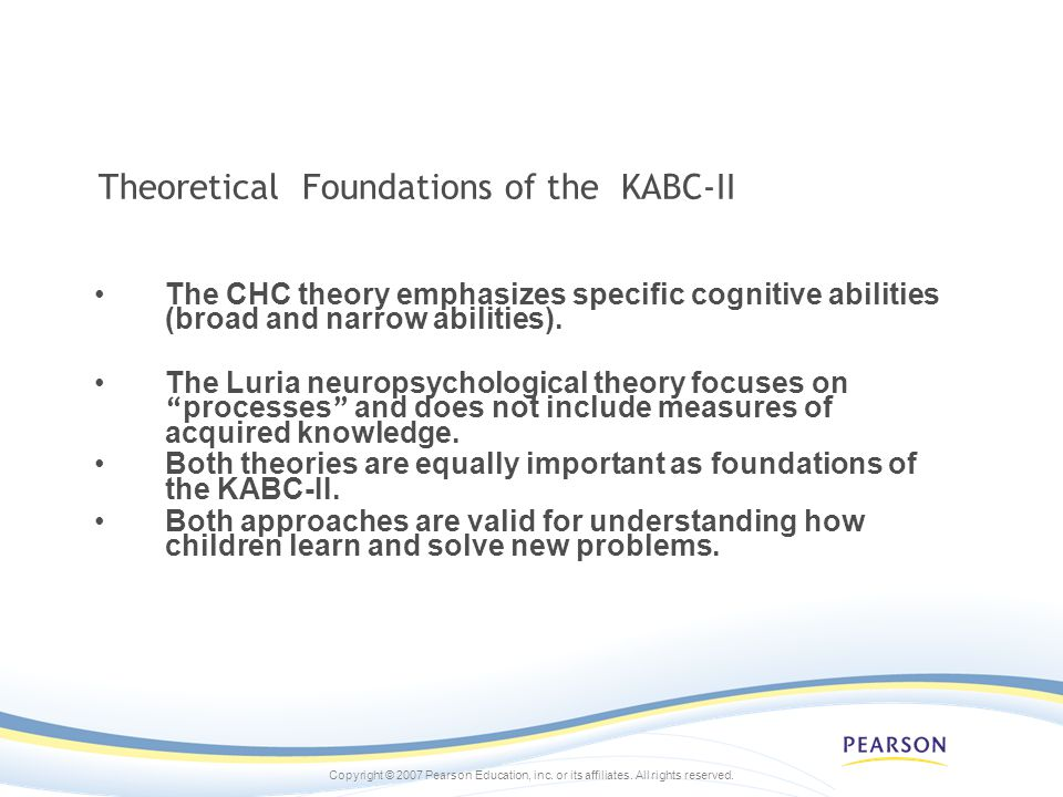 Theoretical Foundations of the KABC-II