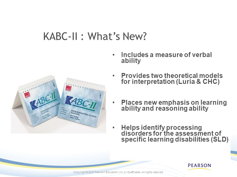 KABC-II : What's New Includes a measure of verbal ability