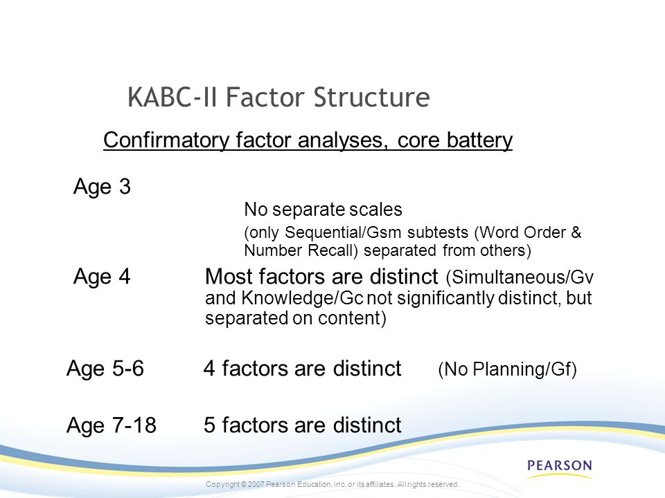 KABC-II Factor Structure