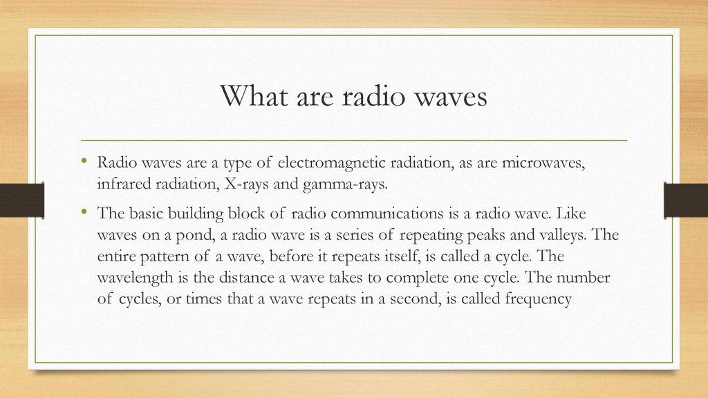 Radio Waves By: Damoyar Heard  - ppt download