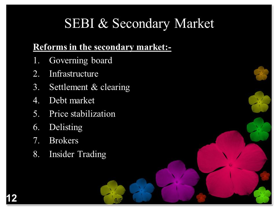 SEBI & Secondary Market