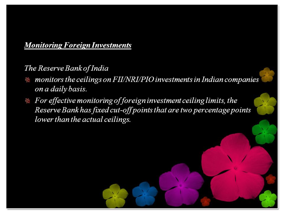 Monitoring Foreign Investments