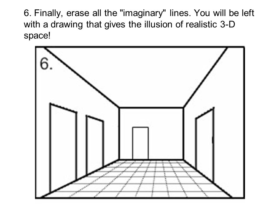 6. Finally, erase all the imaginary lines
