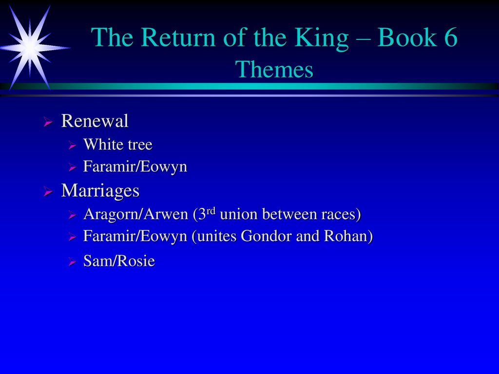 Lord Of The Ring The Return Of The King Ppt Download
