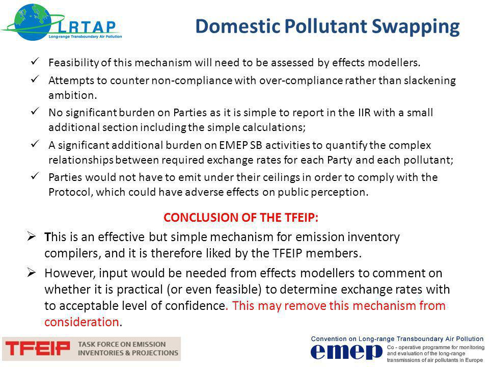 Domestic Pollutant Swapping