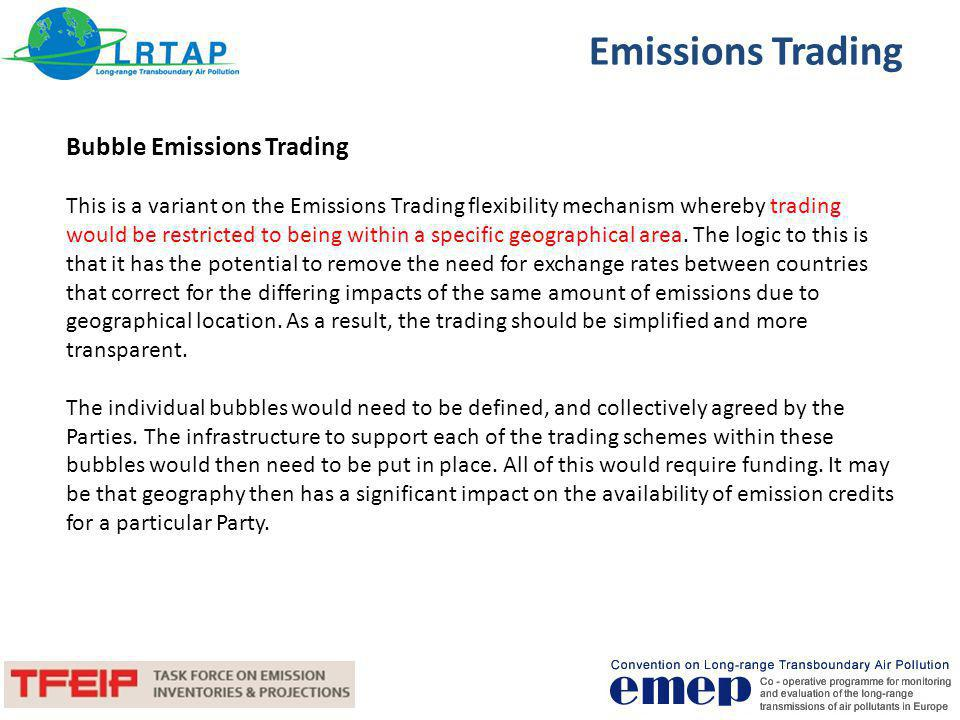 Emissions Trading Bubble Emissions Trading