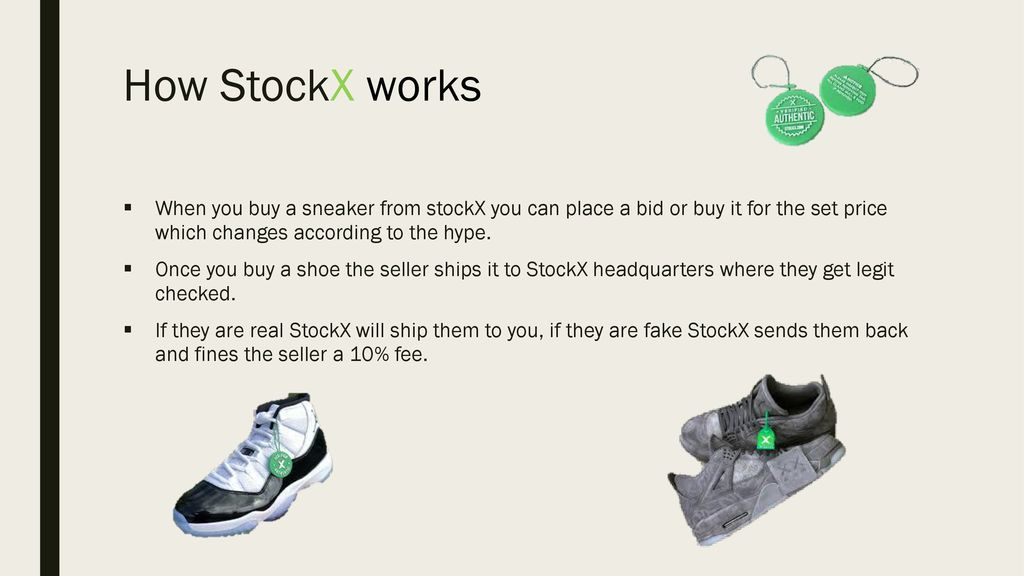 1129229663e6d How StockX works When you buy a sneaker from stockX you can place a bid or