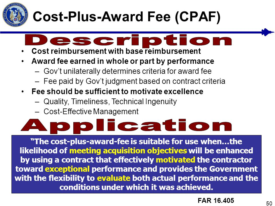 Cost-Plus-Award Fee (CPAF)