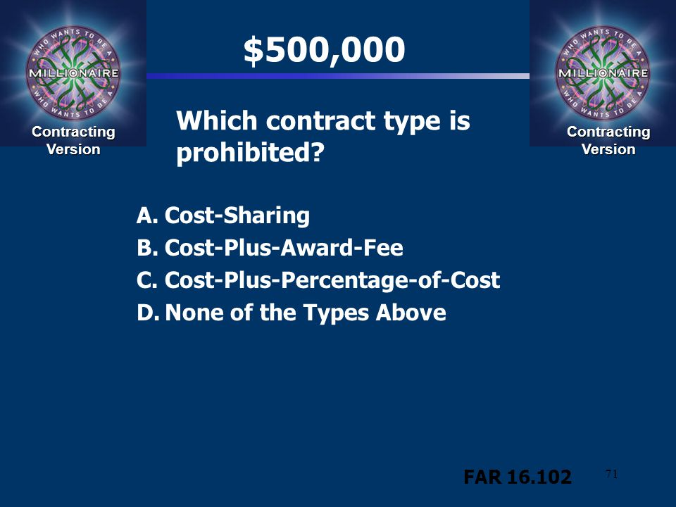 Which contract type is prohibited