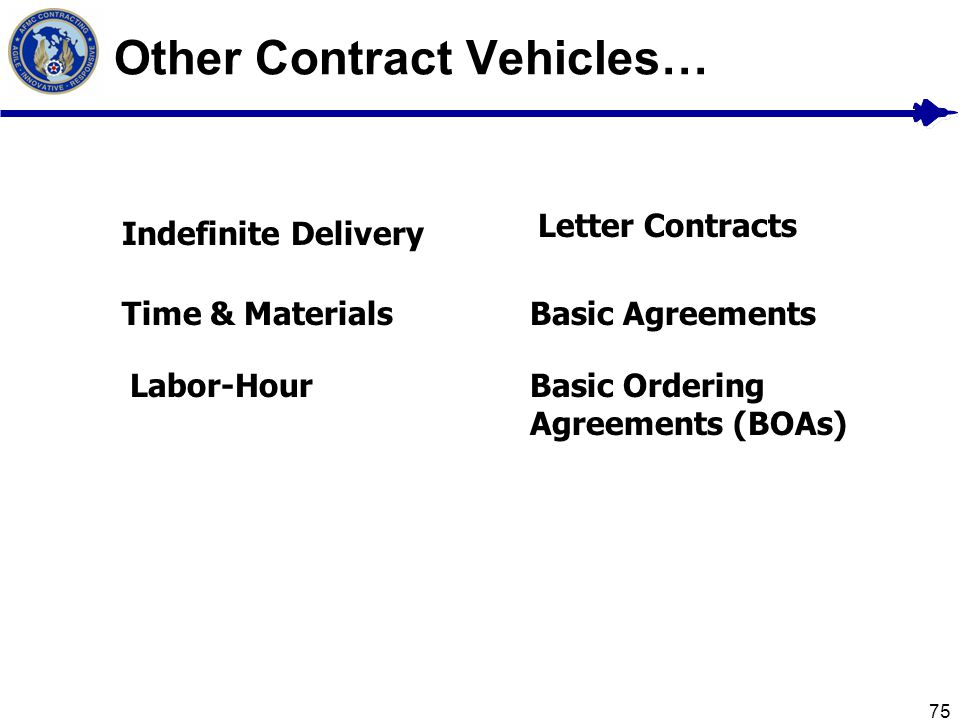 Other Contract Vehicles…