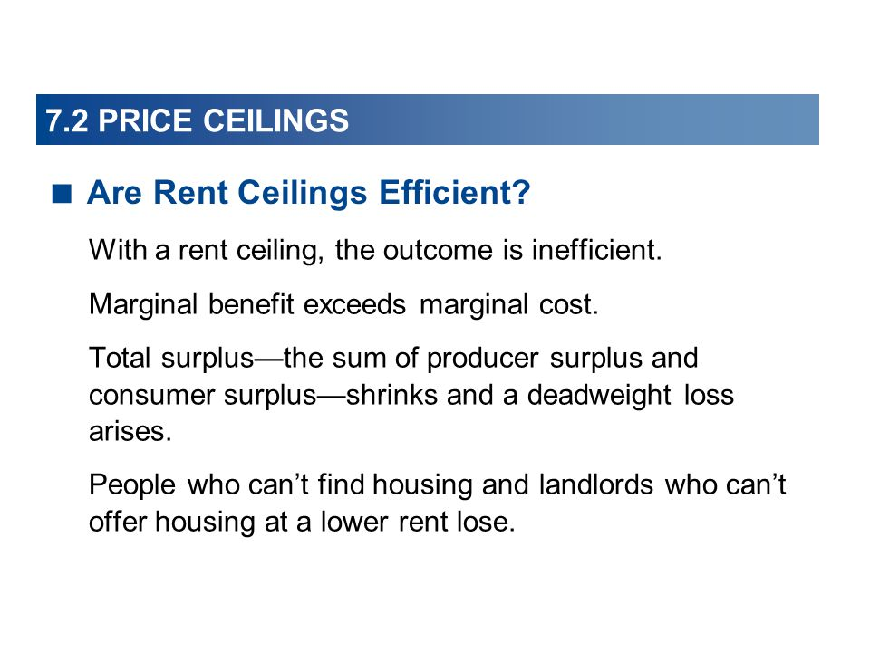 Are Rent Ceilings Efficient