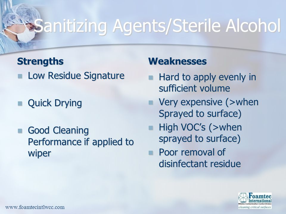 Sanitizing Agents/Sterile Alcohol